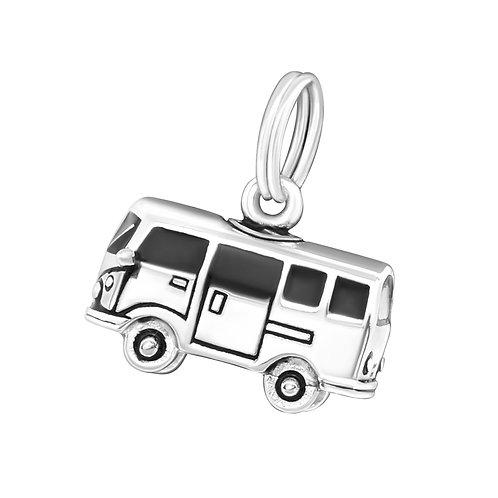 Camper van Sterling Silver Split Ring Charm
