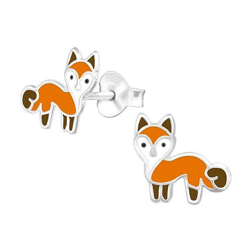 Fox Sterling Silver Ear Studs