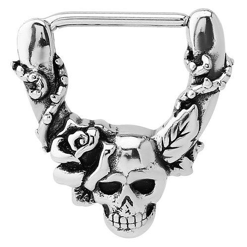 Skull and Rose Nipple clicker