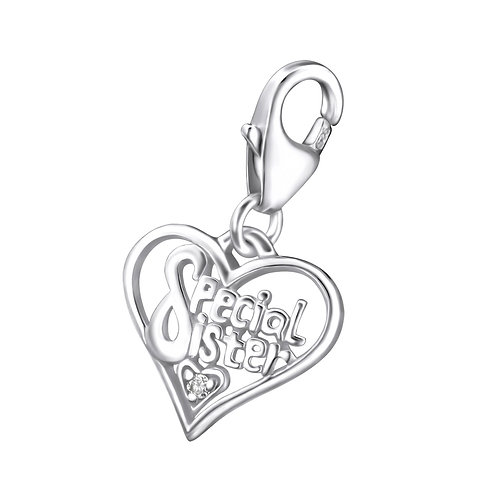 Special Sister Sterling Silver Lobster Charm