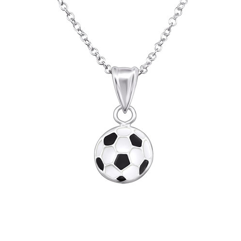 Football Sterling Silver  Necklace
