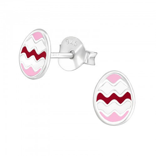 Easter egg Sterling Sliver Ear Studs