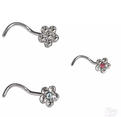 Surgical Steel flower nose studs