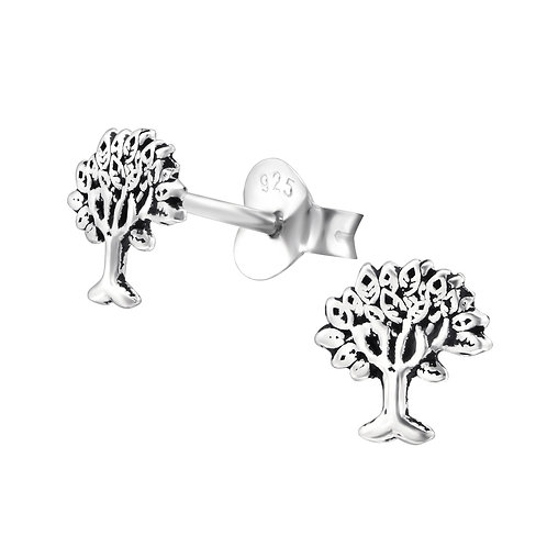 Tree sterling sliver Ear Studs
