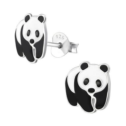 Panda Sterling Silver Ear Studs