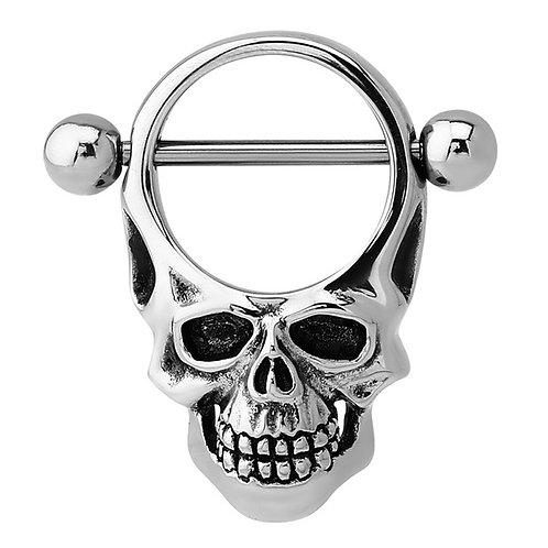 Skull Nipple Bar and  Shield