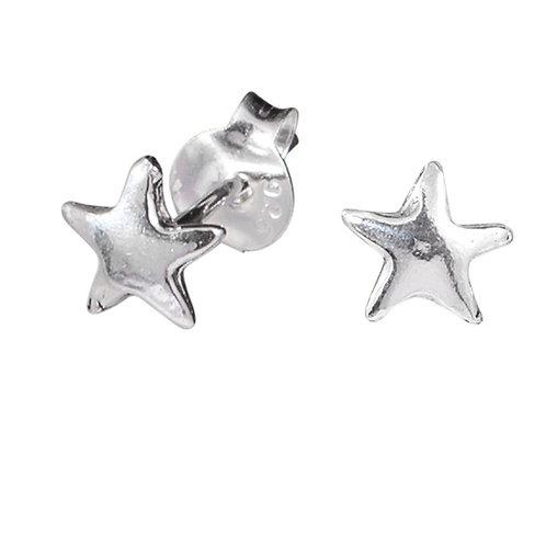 Sterling Silver Star ear studs