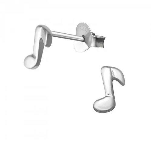 Music Note 925 Sterling Sliver Ear Stud