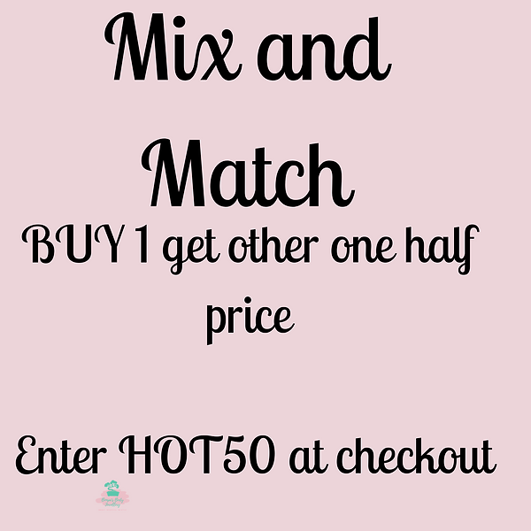 BUY 1 get other one half price   Enter H