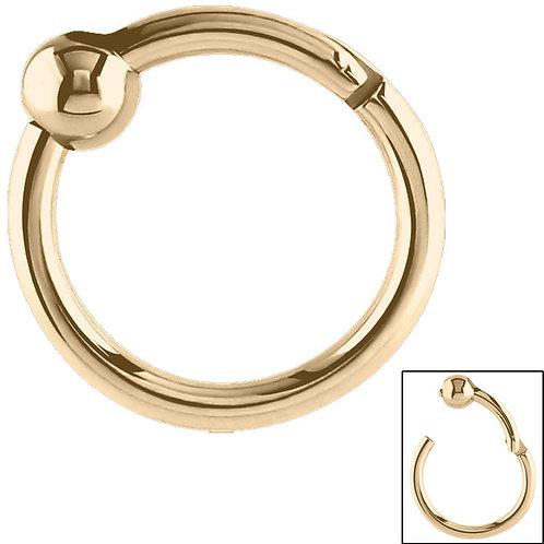 Zircon on Steel Ball Clicker Ring