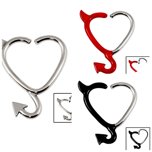 Devil Continuous Heart Ring