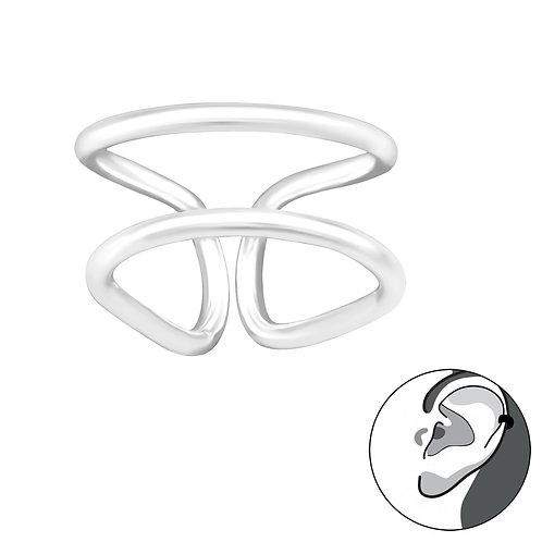 Double Line  Sterling Silver  Ear Cuff