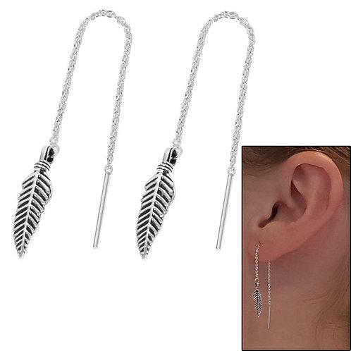 Feather Threader Earrings