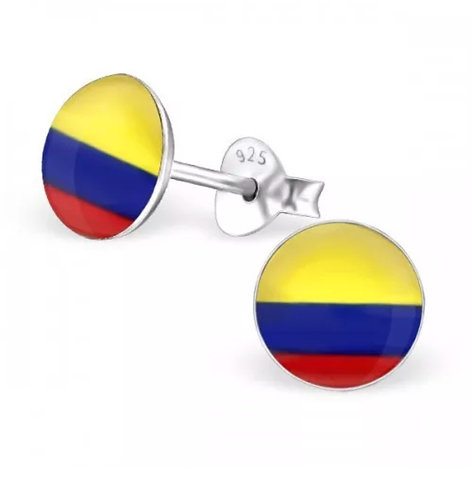 Rounded Colombian  Flag Ear Stud