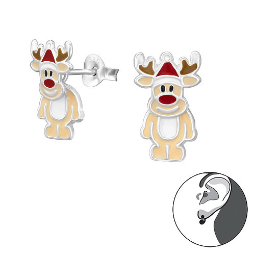 Reindeer Sterling Silver Ear Jackets