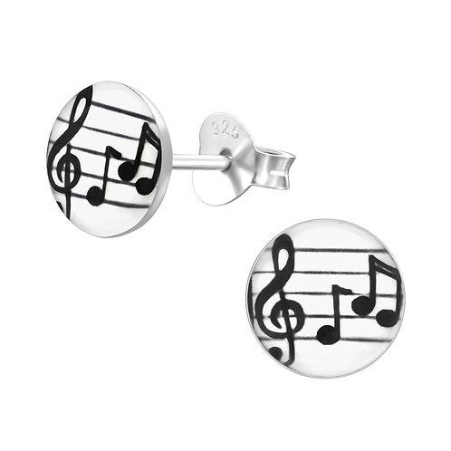 Music   Sterling Sliver Ear Studs