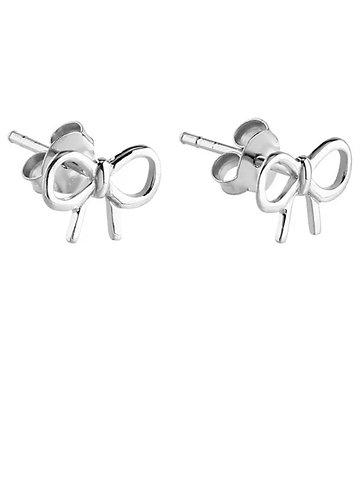 Sterling Sliver Bow Ear Studs