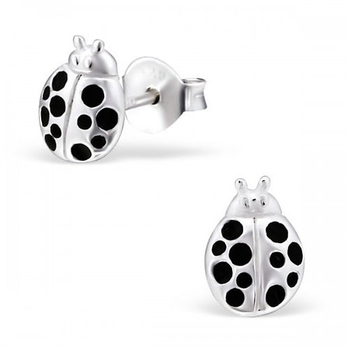 Ladybird sliver ear studs
