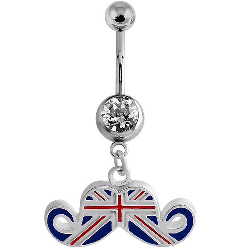 Union Jack Moustache Belly Bar
