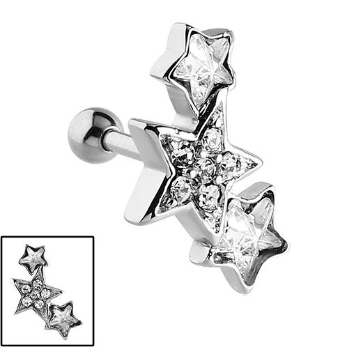 3 Jewelled Stars Micro Bar