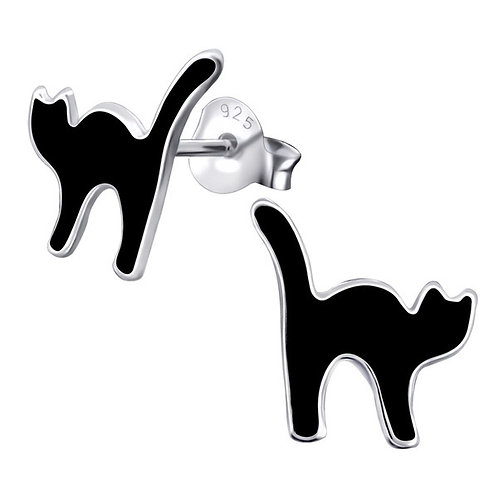 Black Cats  Ear Studs