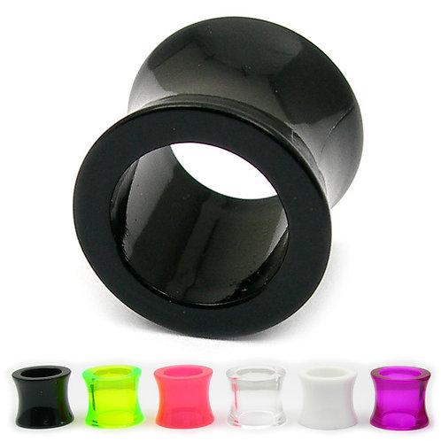 Acrylic Double Flared Eyelet Flesh Tunnels 10mm