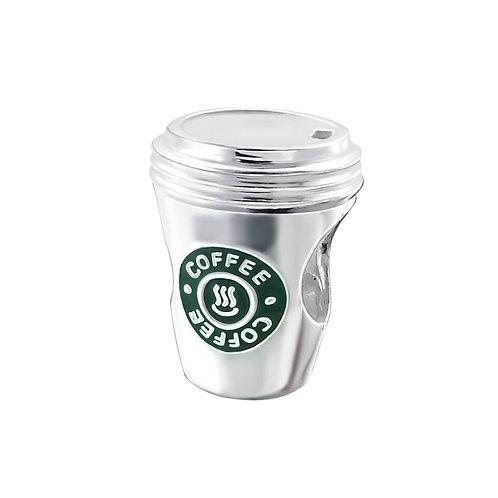 Coffee Cup Beaded Charm