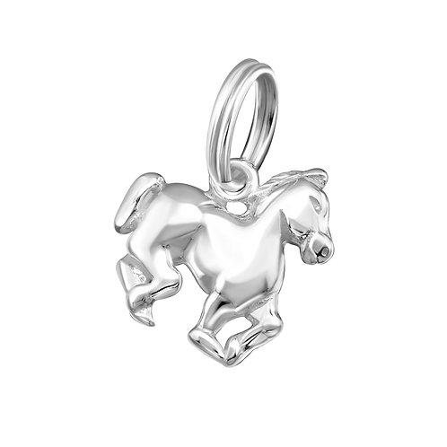 Horse Sterling Silver Split Ring Charm