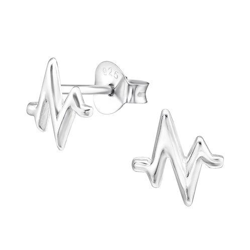 Pulse Sterling Silver Ear Studs