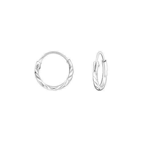Twisted  Sterling Silver Hoops