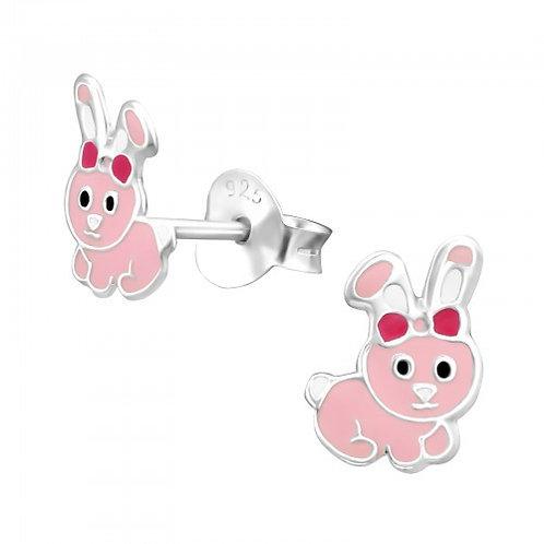 Pink Rabbits Sterling Sliver Ear Studs
