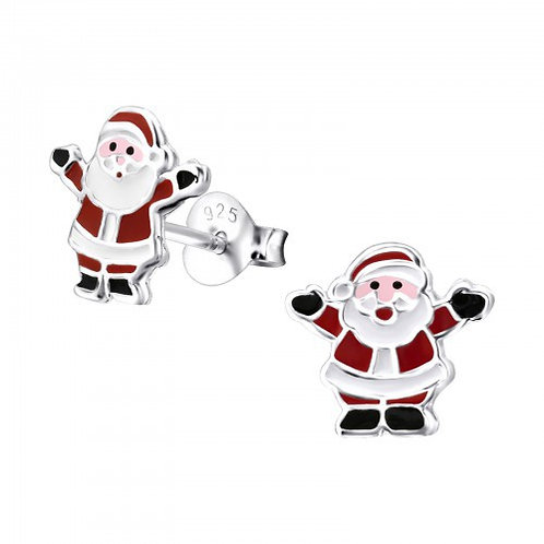 Sterling Silver  Father Christmas Ears Studs
