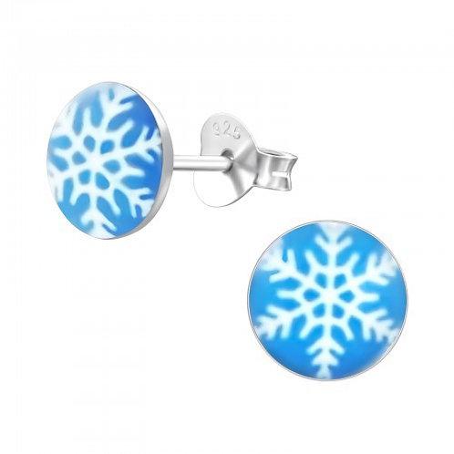 Snowflake Sterling Silver Ear Studs