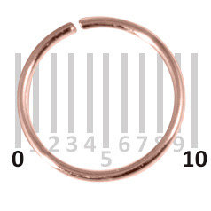 Rose gold plated  Sterling Silver Hoops