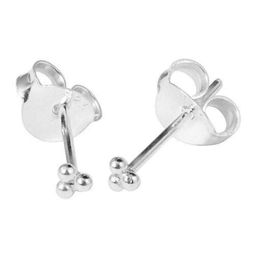 Trinity  Sterling Silver Ear Studs