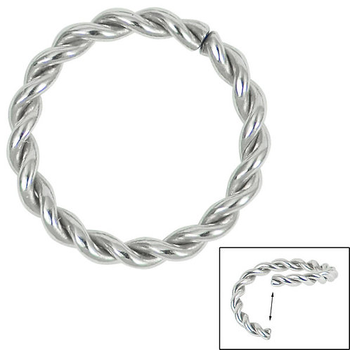Continuous  seamless twisted rope ring