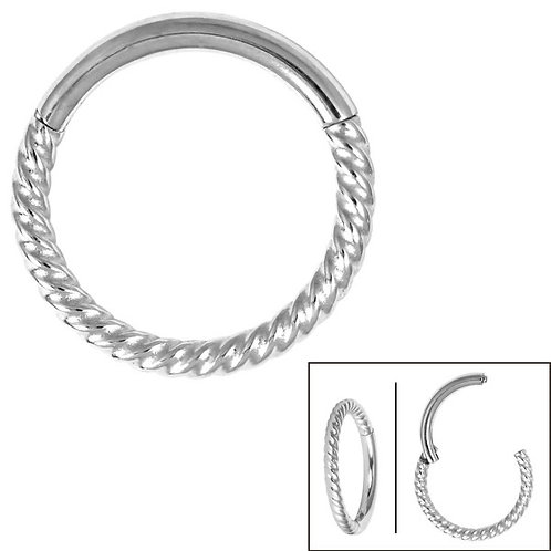 Twisted Rope Hinged Clicker Ring