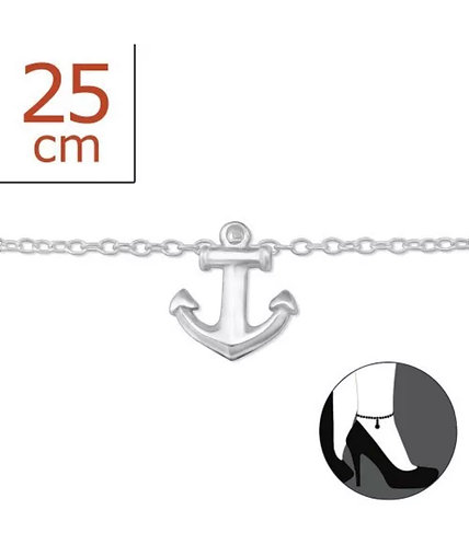 Sterling Sliver anklet with Anchor charm