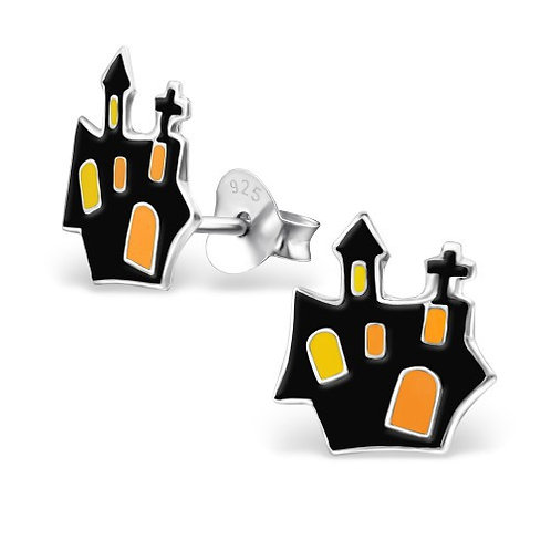 Haunted House Sterling sliver ear studs