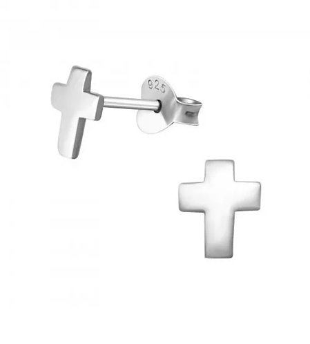 Cross 925 Sterling Sliver Ear Stud