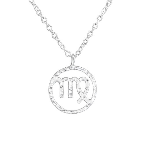 Sterling Silver Virgo Zodiac Necklace