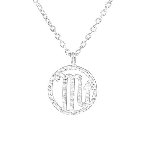 Sterling Silver Scorpio Necklace
