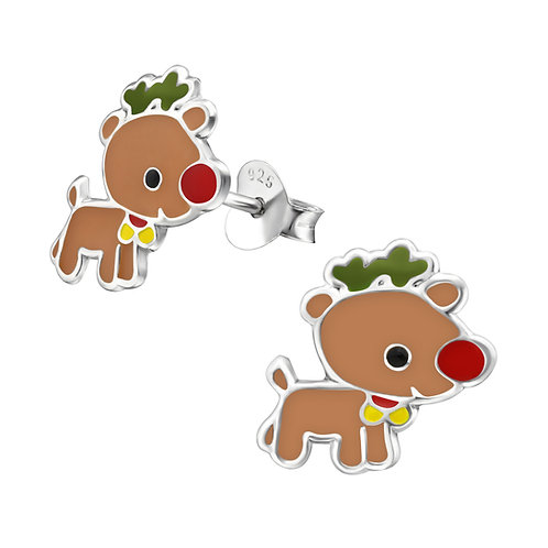 Sterling Silver  Rudolph  Ears Studs