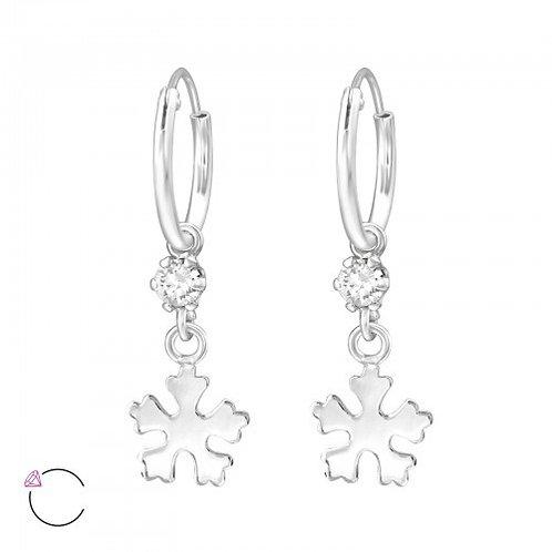 La Crystale Snowflake crystal earrings made from Swarovski® stones
