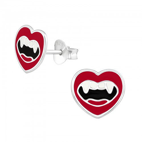 Vampire Mouth Sterling Silver ear studs