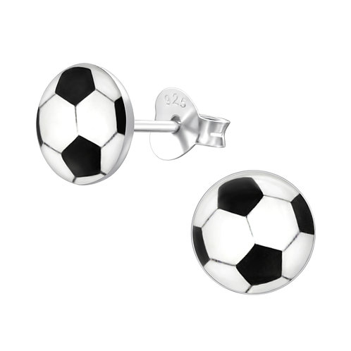 Football Sterling Sliver Ear Studs