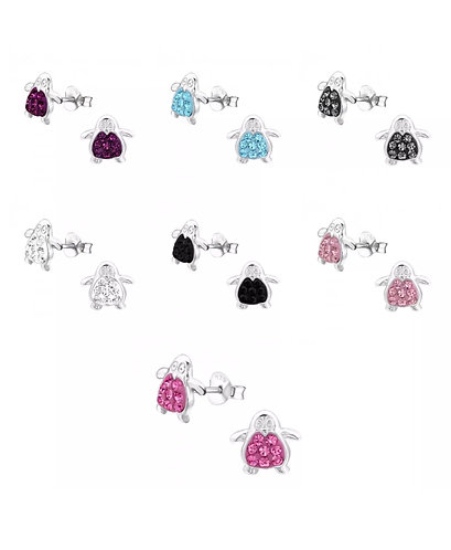 Children's Crystal Penguin Ear studs
