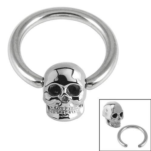 Skull Ball Closure Ring