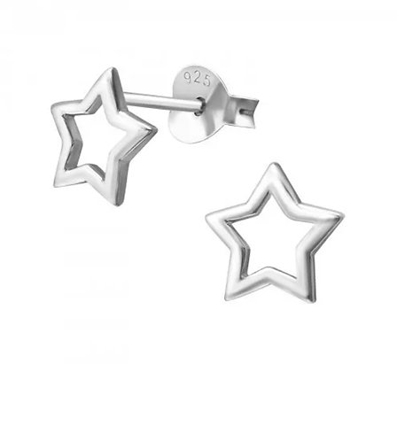 Star 925 Sterling Sliver Ear Stud