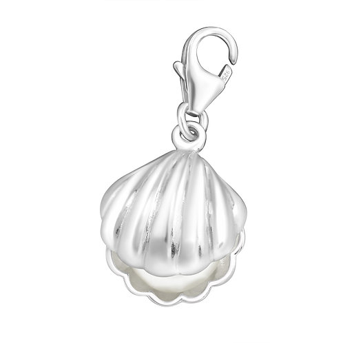 Clam with Pearl Sterling Silver Lobster Charm